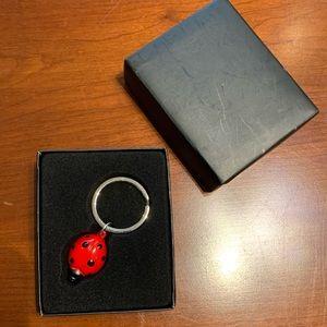 Red lady bug key ring bag charm key chain new box